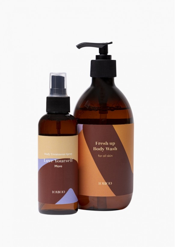Matches we love: Fresh up body wash + Body treatment spray More