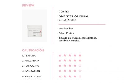 Review One step original clear pad Mar